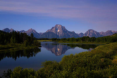 Photograph - Moonlight At Oxbow Bend by TL  Mair