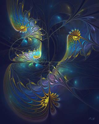 Kim Digital Art - Moonlight Ballet by Kim Redd