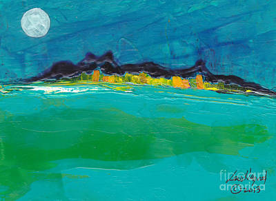 Painting - Moonlight Bay by Lew Hagood