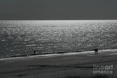 Photograph - Moonlight Beach Stroll by Bob McGill