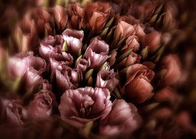 Still Life Digital Art - Moonlight Bouquet by Jessica Jenney