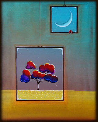 Window Wall Art - Painting - Moonlight by Cindy Thornton