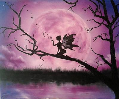 Moonlight Fairy Art Print by Ira Florou