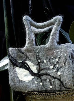 Mixed Media - Moonlight Felted Bag by Shelley Bain