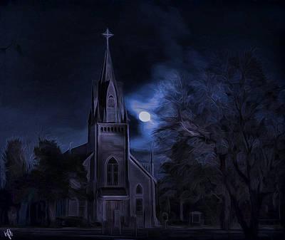 Moonlight Art Print by Hazel Billingsley