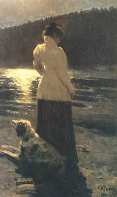 Moonlight Art Print by Ilya Repin