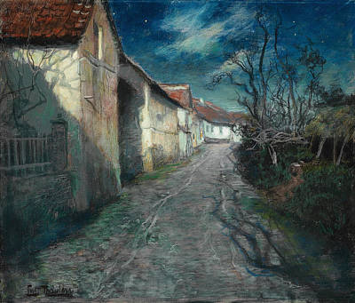 Painting - Moonlight In Beaulieu by Frits Thaulow
