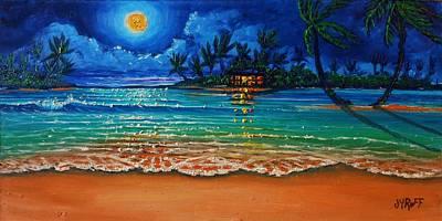 Moonlight Lagoon Art Print