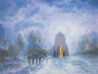 Catholic For Sale Painting - Moonlight Mass by Jerry McElroy