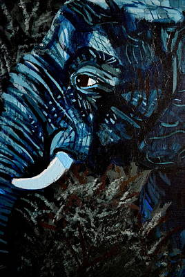 Black Tusk Painting - Moonlight Matriarch by Gianna Ferazzi-Mooney