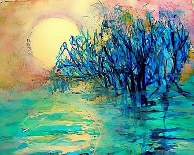 Mary Sonya Conti Painting - Moonlight Minute by Mary Sonya  Conti