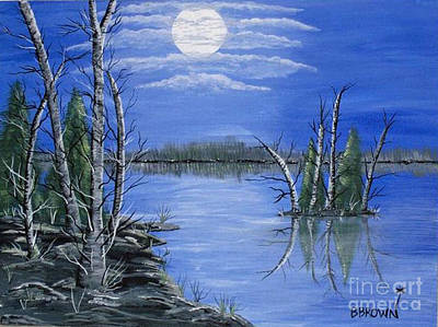 Painting - Moonlight Mist by Brenda Brown