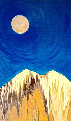 Painting - Moonlight Mountain by Brooke Friendly