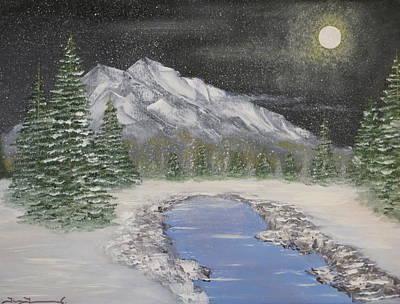 Moonlight Mountain Art Print by Tim Townsend