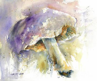Painting - Moonlight Mushroom by Christy Lemp