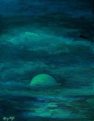 Moonlight On The Water Art Print