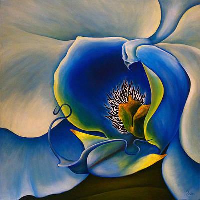 Bedroom Painting - Moonlight Orchid by Debra Bucci