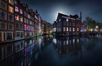 Amsterdam Wall Art - Photograph - Moonlight Over Amsterdam by Jes??s M. Garc??a
