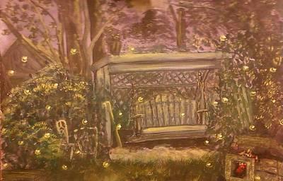 Moonlight Over Meshoppen Art Print