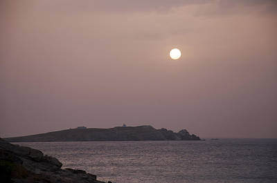Photograph - Moonlight Over Mykonos Greece by Brenda Kean