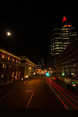 Photograph - Moonlight Over The City by Haren Images- Kriss Haren
