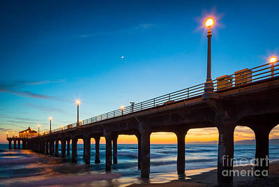 Photograph - Moonlight Pier by Inge Johnsson