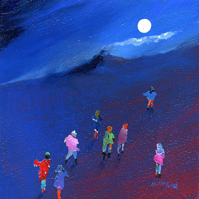 Gathering Painting - Moonlight Ramble by Neil McBride