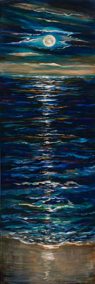 Moonlight Reflection Art Print