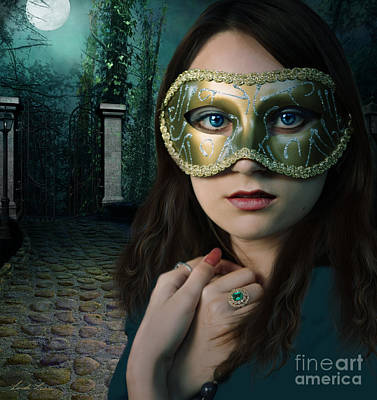 Moonlit Digital Art - Moonlight Rendezvous by Linda Lees