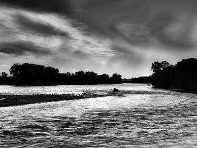 Photograph - Moonlight River by Leland D Howard