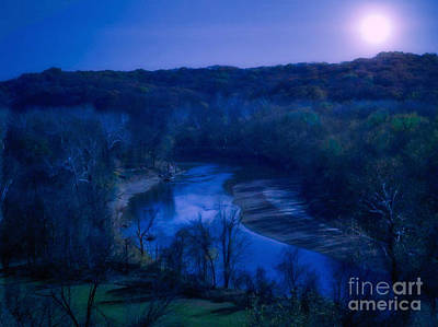 Photograph - Moonlight River  by Peggy Franz