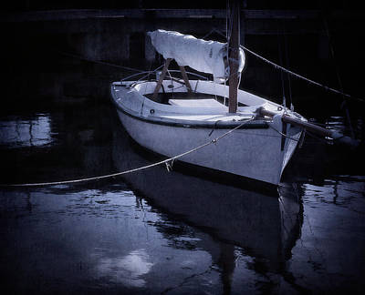 Sailboat Photograph - Moonlight Sail by Amy Weiss