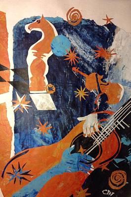 Decoupage Painting - Moonlight Serenade by Chris Irwin Walker