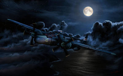Patrol Digital Art - Moonlight Serenade by Dale Jackson