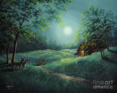 Moonlight Serenity Original by Gary Adams