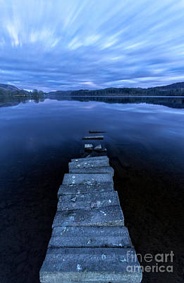 Sunset By The Lake Photograph - Moonlight Shadow by John Farnan