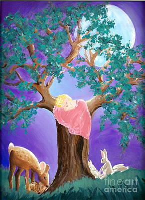 Wall Art - Painting - Moonlight Slumber by Shakaya Leone