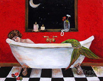 Painting - Moonlight Soak by Linda Queally