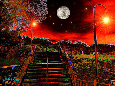 Moonlight Stairs Original by Michael Rucker