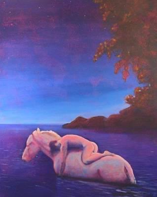 Moonlight Swim Art Print by Craig  Bruce