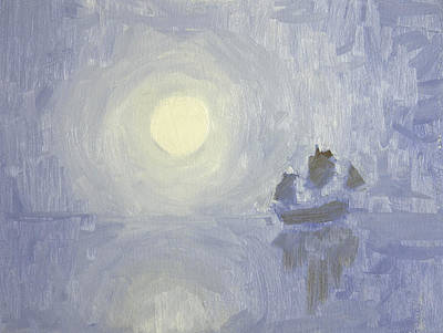 Painting - Moonlight Trade Winds by Anthony Sell