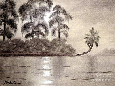 Painting - Moonlight Wakulla Springs by Bill Holkham