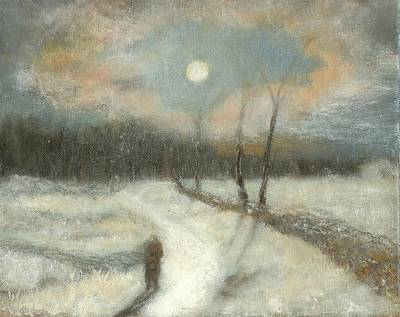 Painting - Moonlight Walk Home by Joe Leahy
