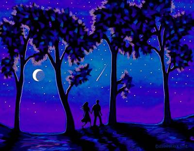 Painting - Moonlight Walk by Sophia Schmierer
