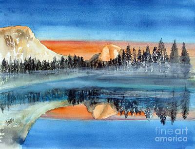 El Capitan Painting - Moonlight Yosemite by Rob Beilby