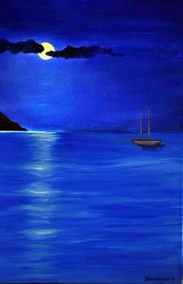 Moonligth Art Print by Kostas Koutsoukanidis