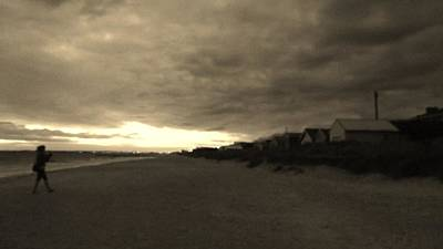 Photograph - Moonlit Beach by Maria  Disley