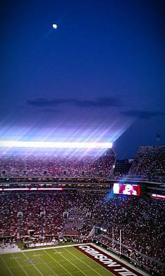 Photograph - Moonlit Bryant-denny Stadium by Kenny Glover