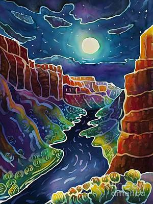 Moonlit Canyon Print by Harriet Peck Taylor