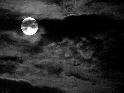 Photograph - Moonlit Clouds by Harold Farmboyzim Zimmer